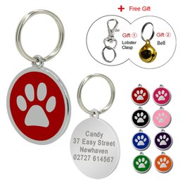 Wholesale Id Tags For Dogs - Customized Dog Tag Personalized Engraved Dogs Cat ID Tags Pet Collar Pendant For Kitten Puppy