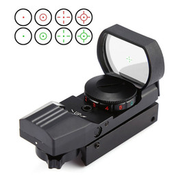 Wholesale tactical reticle sight - Hot 20 11mm Rail Riflescope Hunting Optics Holographic Red Dot Sight Reflex 4 Reticle Tactical Scope Hunting Accessories