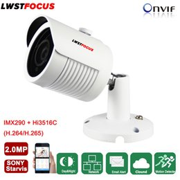 Wholesale Ip Camera Array - LWSTFOCUS 2MP 1080P HD IP Camera Micro SD TF Card Sony IMX290 Onvif P2P Outdoor Network CCTV Camera Optional Audio Array Leds