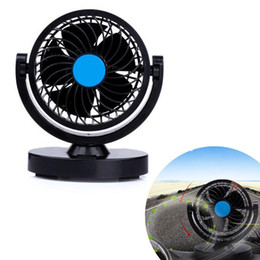 Wholesale 12v Fan Car - Low Noise 12V 360 Rotating 2 Speed Strong Wind Car Air Conditioner Cooling Styling Fan CEC_80B
