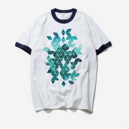 Muskelhemdentwurf online-Hohe Qualität Ringer T-shirt Große Größe Männer Geometrie Design Marke Kleidung Baumwolle Sommer T-shirt Männlich Weiß Muscle Fit Kurzarm