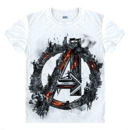 2019 regali fatti di ferro Maglietta Ironman Iron men Hawkeye Black Widow Marvel Maglietta Custom Made 3D Print Gift Tee regali fatti di ferro economici