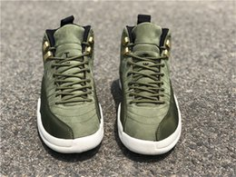 bf857a11d3d Top Quality 2018 Release 12 Graduation Pack CP3 Men Basketball Shoes Chris  Paul Green Suede 130690-301O Carbon Fiber Athletic Sneakers