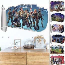 статические настенные наклейки Скидка 3D Fortnite стены стикеры Королевская игра съемный стикер украшения стены для гостиной Спальня виниловые обои WX9-986