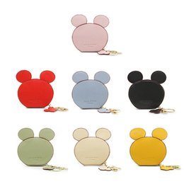 Wholesale wholesale cute coin purses - Cute Change Purse Mini Wallet Cute Round Ears Wallet Small Bag Coin Bag Zipper Wallet LJJD30