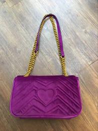 2019 streifenhandtaschen 2018 neue Mode-Frauen-heiße Samt-Handtaschen Stripes Handtaschen-Schulter-Kain-Beutel-Geldbeutel-Taschen-Beutel-freies Verschiffen rabatt streifenhandtaschen