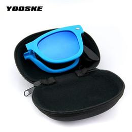 9fac2a01c1076 2019 capa de óculos de sol dobrável YOOSKE Dobrável Óculos De Sol Com Caixa  de dobrável
