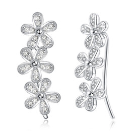 Orecchini pendenti con gemelli a forma di cubo in zirconio e margherite a fiore 1 paio da bracciale pieno orecchino fornitori