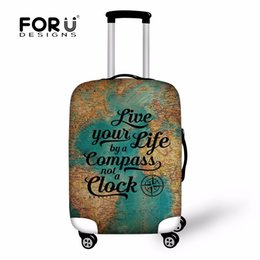 Wholesale Cover Luggage - FORUDESIGNS Fashion Printing Luggage Protective Cover to 18-30 Travel Suitcase,Dust Cover Elastic Waterproof Accessories Covers