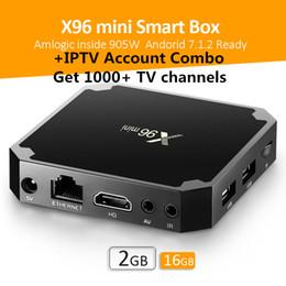 Wholesale core accounts - 2018 2gb 16gb TV Box S905w X96 Mini Support 1000+ Live TV Channels IPTV Subscription Service Free Account Test