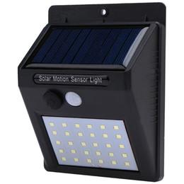 Wholesale sensing motion - Waterproof 30 LED Solar Light Solar Panel Power PIR Motion Sensor LED Garden Light Outdoor Pathway Sense Solar Lamp Wall Light