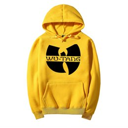 Wholesale wu tang sweatshirt - Winter Dress Classic Style Wu Tang Band Printed Hoody Sweatshirts With Hat Sportswear Hip Hop Clothing men's Hoodies Tracksuit 04