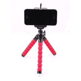 Wholesale Apple Shaped Iphone Stand - Adjustable Three Legs Stand Octopus Shape Cell Phone Holder for Mobile iPhone 6 7 7 Plus Camera 3 Colors