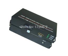 Vídeo de fibra óptica on-line-1 par de áudio e vídeo hdmi Fibra Óptica Transceptor hdmi interruptor conversor óptico 1080 P Fibra Única de 20 KM SC