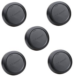 2019 casquillos centrales a presión Cubierta tapa trasera tapa de la lente 5pcs para X-E1 Fujifilm Fuji montura F X-Pro 1 X10 XF1