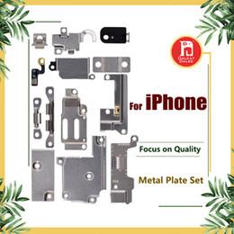 Iphone внутренний набор скобок онлайн-Для iPhone 5 5S SE 5C 6 6P 6S 6S Plus 7G 8 plus X Полный Корпус Внутренний Маленький Держатель Кронштейн Щиток Металлический Железный Корпус Комплекта Комплект