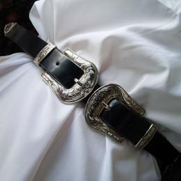 Fantastik Ikiz Pin Toka Kadınlar için Tasarımcı Kemerleri Batı Siyah Deri Elbise Kemer Bayan ceinture femme kemer nereden
