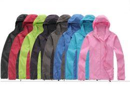 Wholesale red skin jacket - Men's Spring Autumn Thin Jacket Coat Outdoor Waterproof Quick Dry Camping Jackets women Windproof UV Protection Outdoor Sport Skin Jacket