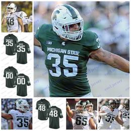 Wholesale michigan state football jerseys - NCAA Michigan State Spartans College Football #77 Dimitri Douglas 48 Kenny Willekes 35 Joe Bachie Jr 59 David Beedle White Green Jerseys
