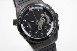Wholesale grand big - 2018 High Quality Luxury Brand Tag Quartz Movement Grand Calibre 36 Men Watch Black Big Dial Rubber Band male Wristwatch