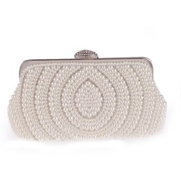 Wholesale Shell Wedding Bag - TANGSONGGUCI New beaded women evening bags day clutch purse evening bag shell design handmade wedding bridal for wedding