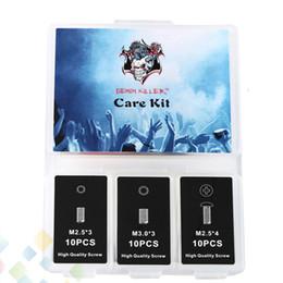 Tornillos hexagonales online-Demon killer Care Kit Fit DIY Reconstruir RDA RBA RDTA Atomizadores Tanque hexagonal Socket Set Tornillo Cabeza redonda Tornillos en cruz DHL libre