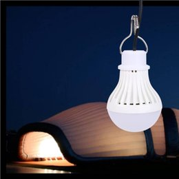 Bombilla led batería para linterna online-5W 5V USB Powered LED Night Light Bulb Tienda de campaña Linternas de la lámpara Recargable Colgante Senderismo Impermeable Batería
