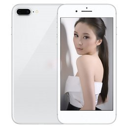 Wholesale Hdc Silver - HDC 4G LTE fingerprint Goophone i8 plus 5.5 Inch Smartphone Quad Core glass back cover show Octa core 256GB unlocked phone