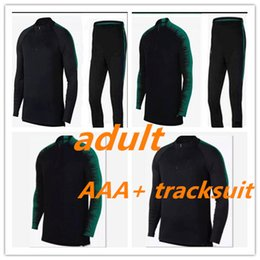 Wholesale Football Clothes - 2018 World CupTop Thailand soccer tracksuit 18-19 PORTUGAL adult Training suit pants football training clothes sportswear mens Sweater