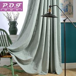 vorhang falten stile Rabatt P.O.F New Striped bestickt Curtians für Wohnzimmer passend Tüll für Schlafzimmer Vorhänge Fenster Behandlung