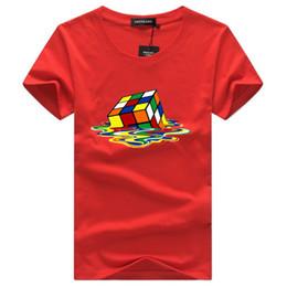 Argentina 2018 Sheldon Cooper Fusion rubik Cube camiseta hombres blancos camiseta homme casual plus size The Big Bang Theory friki camiseta cheap bang t shirts Suministro