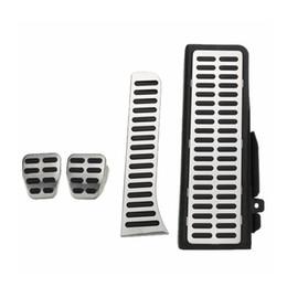 Wholesale Vw Pedals - 4Pcs Clutch Fuel Brake Foot Rest MT Pedals Pads Steel For VW Jetta MK5 Golf MK6