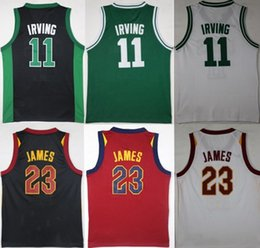 Wholesale Mixed Basketball Jersey - Cheap Kids 2 Kyrie Irving 23 James Jersey boy child youth Shirts Stitched Jerseys top Quanlity Mix Order