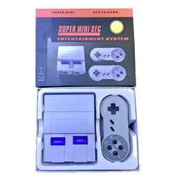Wholesale handheld game dhl - Super Mini Classic SFC Can Store 400 Mini TV Handheld Game Console Video For Nes SNES Games With Engilsh Retail Box DHL