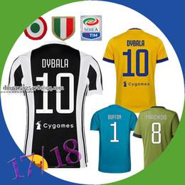 Wholesale Italy Blue Soccer Jerseys - 17 18 DYBALA HIGUAIN POGBA soccer jerseys 2017 2018 Italy Home CUADRADO KHEDIRA MARCHISIO MANDZUKIC CHIELLINI BUFFON shirt 120th anniversary