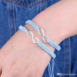 09c839548a 2pcs set Handmade Woven 8 Words Lucky Friendship Bracelet Set Infinity Love  Bracelet Couples Set Jewelry