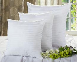 almohada suave asiento Rebajas Cojín blanco Insertar algodón PP suave para silla de sofá del coche Throw Pillow Core asiento interior Cojín de llenado tamaños