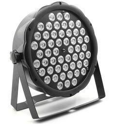 Livraison Gratuite Intérieur Plat DMX Stage 54X3W RGBW LED Par Lumière De Noël Vacances Couleur Changement Par peut Laver Éclairage ? partir de fabricateur