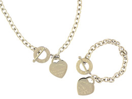 bracelet de diamants platine Promotion (Bracelets + Colliers) Diamants de la Cour Saupoudrer Collier argent 925 Colliers Bracelets Bagues Boucles d'oreilles Charmes Bijoux