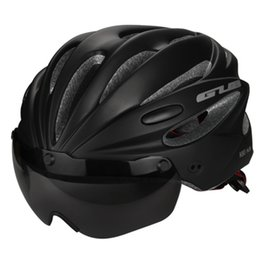 Deutschland Fahrradhelm mit Visier Magnetbrille Integral geformtes MTB-Rennradhelm Fahrrad 58-62cm für Männer, Frauen cheap visor helmets Versorgung
