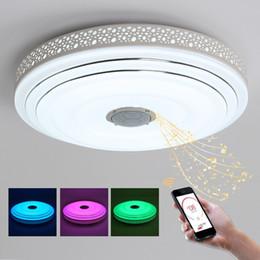 Farbe wechselnde lampe deckenleuchte online-BULE TIME Music Lamp Moderne LED Kronleuchter Lüster mit Bluetooth-Steuerung Farbwechsel Deckenleuchter Leuchte
