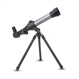 trípodes ajustables Rebajas Telescopio astronómico del espacio profesional con la palanca ajustable del trípode Monocular al aire libre lente del alcance Regalo del niño Juguete del cabrito