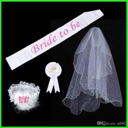 Costumes de rosette en Ligne-Fête Unique Fournitures de Mariée À Épaule Bretelles Jambe Cercle Badge Sash Costume Dentelle Ensemble Blanc Rosette Mantilla 11 5ap gg