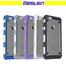 Wholesale Dual Layer Armor Case - Bestsin Armor Case For iPhone 7 Transparent Rugged Hybrid Cases Dual Layer TPU Case Hard Back Cover Case For iPhone 6S Plus FreeDHL