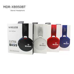 jeux de câble Promotion Extra Bass Sans Fil Bluetooth Casque Stéréo Écouteur avec MIC Électronique MDR-XB950BT Rotary Support de Casque Écouter MP3 FICHIERS Carte TF