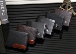 Wholesale Men Wallet Sets - High QualitId Men Wallets Credit card holder Automatic card sets business aluminum wallet card sets cash metal clip holder