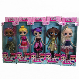 Wholesale Pvc Cans - new big 25cm doll action figures new glitter Limited edition doll Hands and feet can move funko pop Girls' Toys kid toy christmas gift