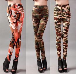 medias de seda natural Rebajas Camuflaje Leggings Mujeres Primavera Moda Bottomings Ropa Legging Medias Elastic Milk Silk Slim Pants