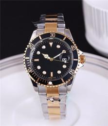 2019 sous-marin relogio masculino montres pour hommes costumier mode cadran noir calendrier bracelet en or fermoir pliant maître mâle ? partir de fabricateur
