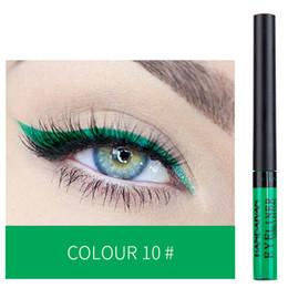 Nouvelle Arrivée Handaiyan Eyeliner Liquide Mat 12 Couleurs Vives Durable Naturel Ensemble Maquillage Eyeliner de Haute Qualité Livraison Gratuite EUB ? partir de fabricateur